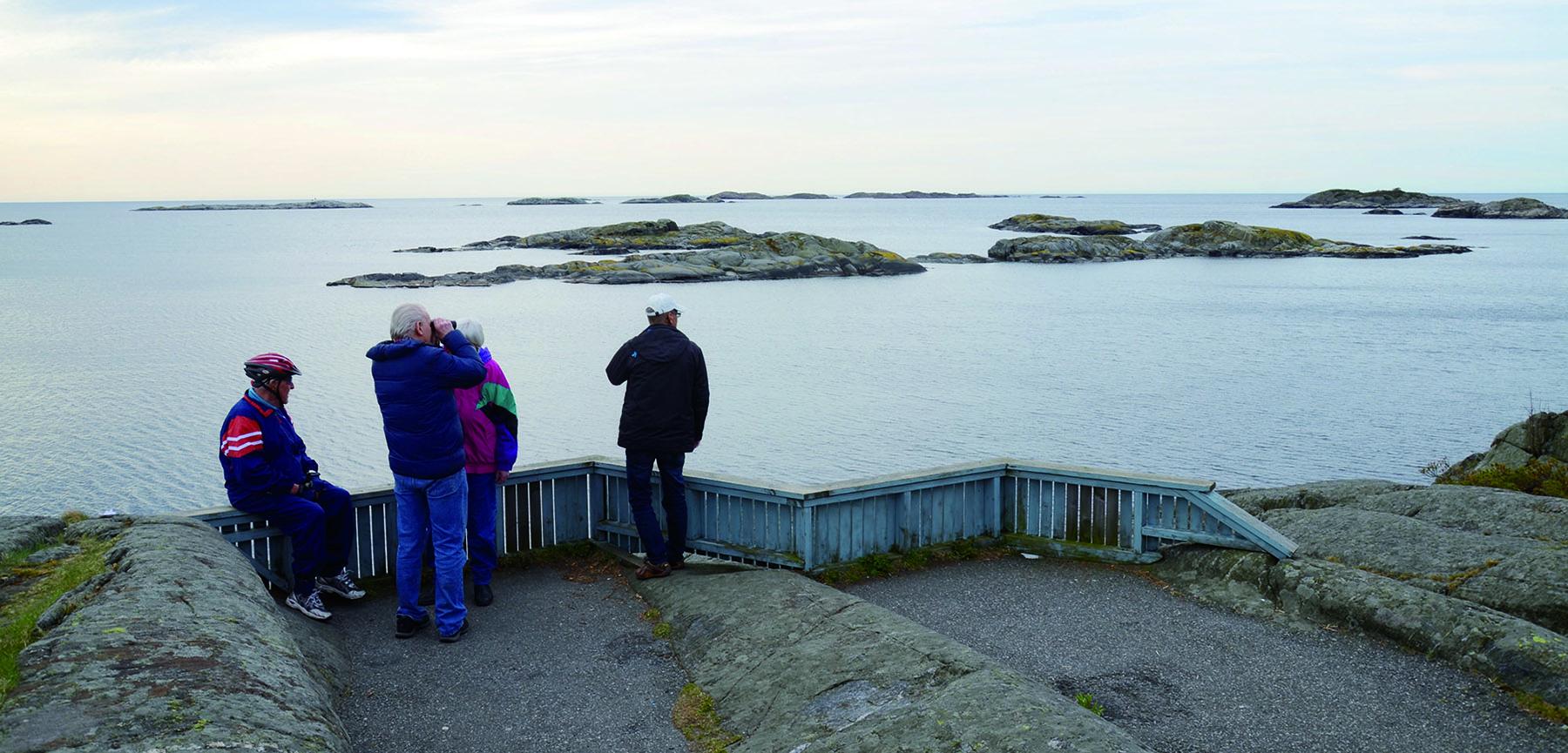 Hasseltangen utsiktspunkt mot Skagerrak